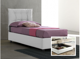 Upholstered 120 bed with container Lucrezia