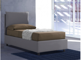 Upholstered 120 bed with fixed base Margherita