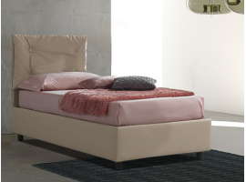 Upholstered 120 bed with fixed base Vittoria