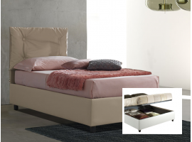 Upholstered 120 bed with container Vittoria