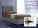 Upholstered double bed with container Margherita