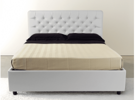 Upholstered double bed with container Gem