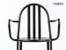 Mallet Stevens chair with armrests in lacquered metal