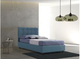 Upholstered 120 bed with fixed base Lucrezia