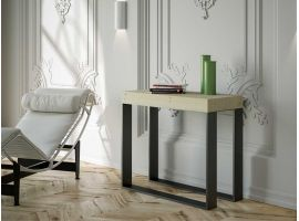 Extendable industrial style console West