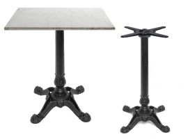 Cast Iron square table Bistrot