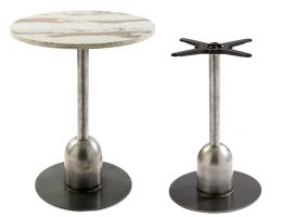 Round Bar Table Industrial