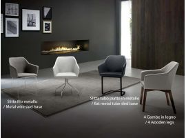 Upholstered design armchair Trafic