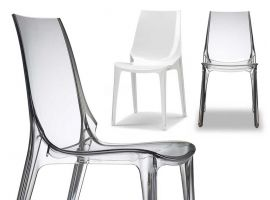 Clear plastic chair Vanity Chair