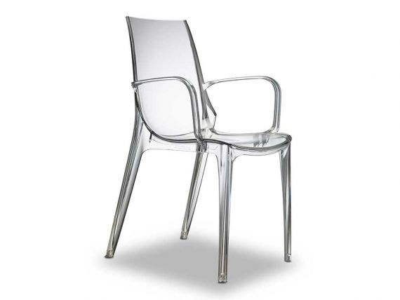 Plastic chair with armrests Vanity