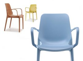 Plastic chair with armrests Ginevra