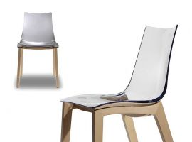 Chaise transparente Natural Zebra antishock
