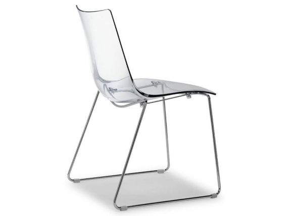 Transparent chair Zebra Antishock