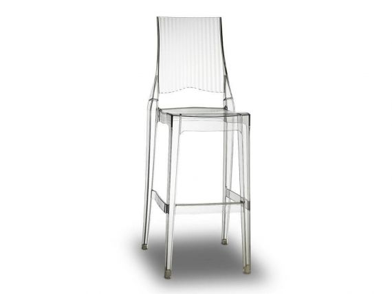 Transparent bar stool Glenda