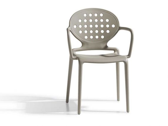 Garden chair with armrests Colette