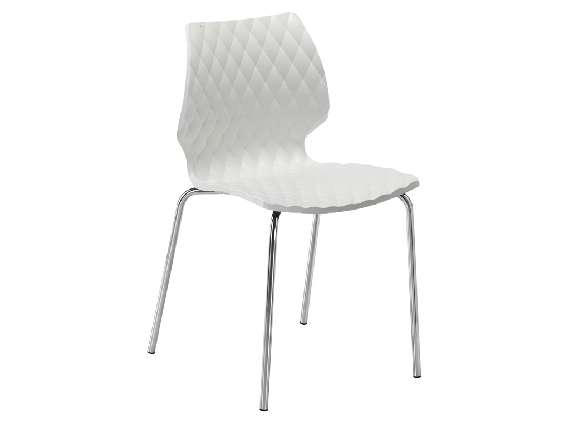 Uni 550 CR Chair with legs in chromed steel