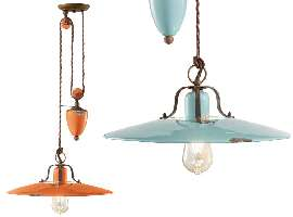Lampe pour cuisine Country