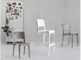 Transparent polycarbonate chair Isy