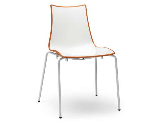White structure chair Zebra Bicolore