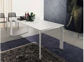 Extendable table with glass top Mondial