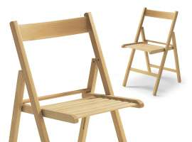 Folding wooden chair Bas