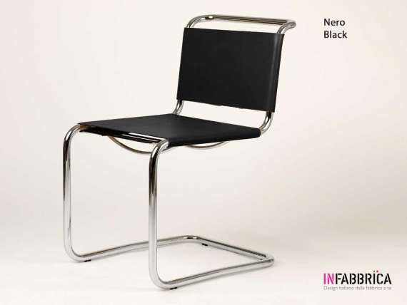Mart Stamm chair in chromed metal and leather