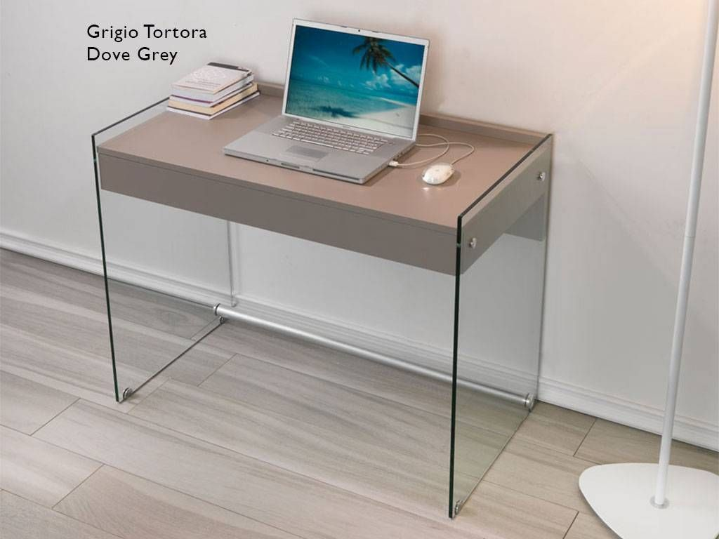 mydesk bureau pour ordinateur en verre. Black Bedroom Furniture Sets. Home Design Ideas