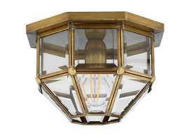 Brass ceiling light Octagonal