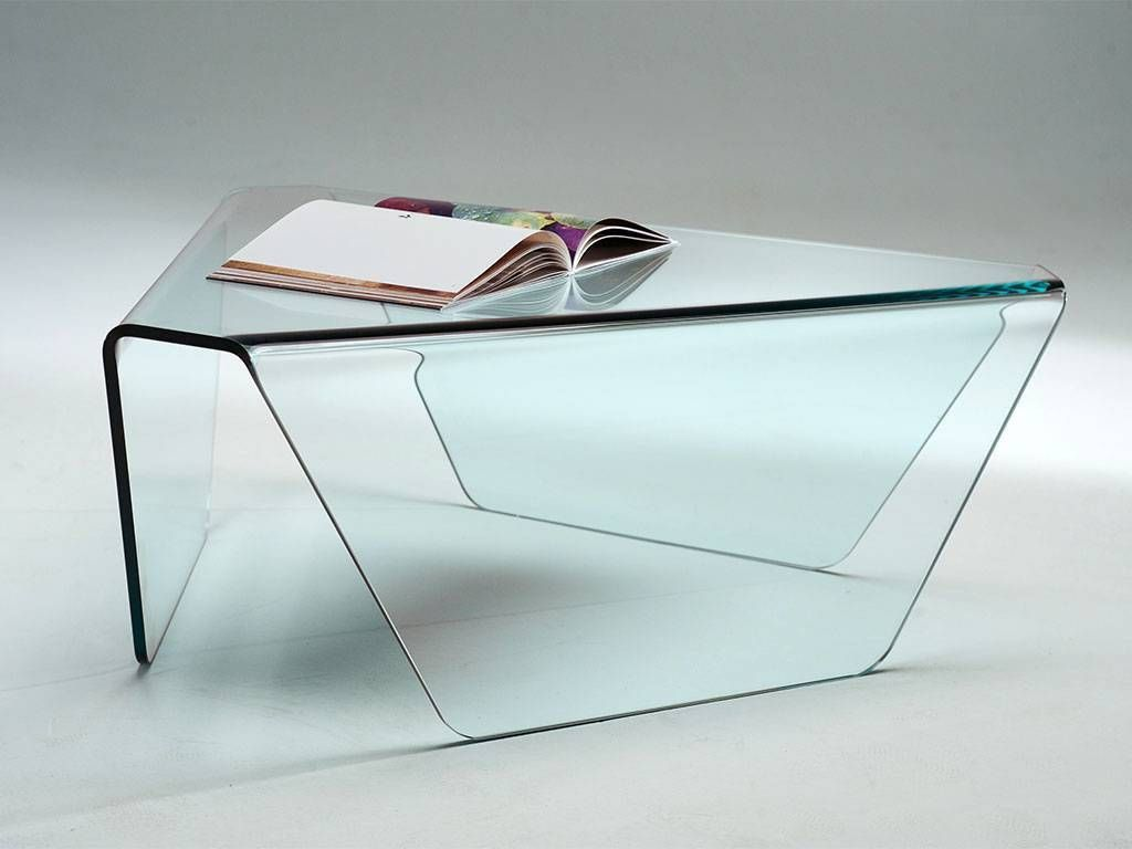 Table basse de salon en verre courb tripod - Table basse salon verre ...