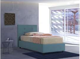 Upholstered 120 bed with fixed base Isabella