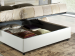 Upholstered 120 bed with container Carolina
