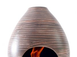 Pigna fireplace in ceramic