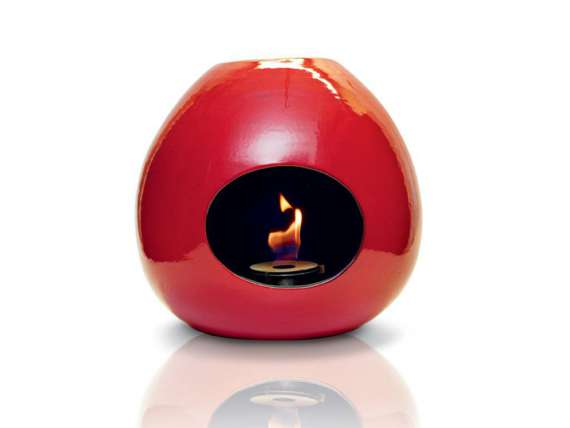 Onion wall fireplace in ceramic
