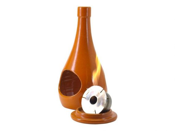 Table burner ceramic bottle
