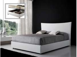 Upholstered bed with container Kelly