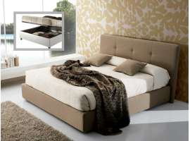 Upholstered bed with container Carol
