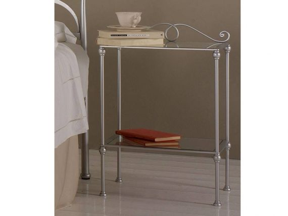 Wrought-iron bedside table Adele