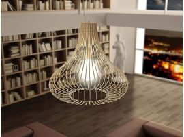 Lampe à suspension avec structure filiforme Titti Oignon