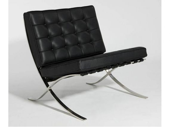 Catalogna sofa and pouf in real leather