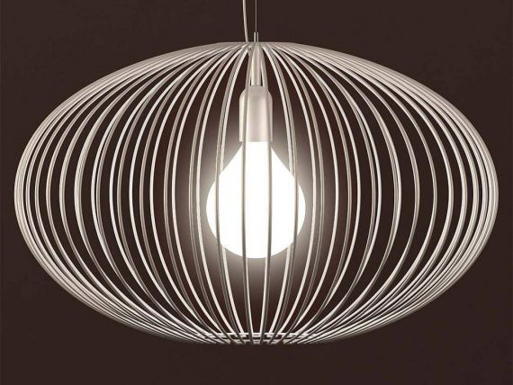 Lampe en suspension avec structure filiforme Titti Tonda