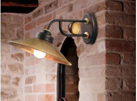 Applique Lampe aus Messing Rua