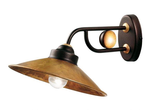 Applique lamp in brass Rua