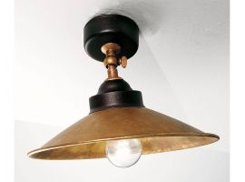 Ceiling lamp in brass Rua