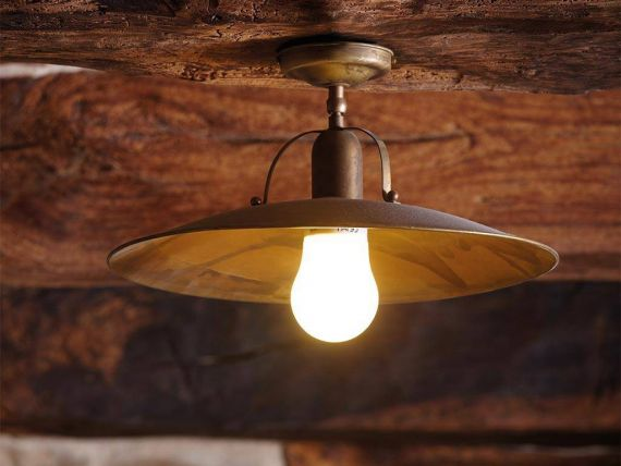 Deckenlampe aus messing osteria for Deckenlampe messing
