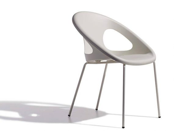 4 legs armchair with lacquered frame Drop