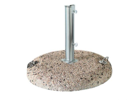 Base in cement for umbrella