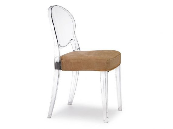 Sedia in policarbonato con cuscino Igloo Chair Comfort