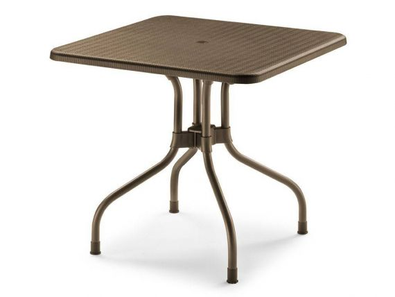 Table pour l'externe carré 80x80 en polypropylen Olimpo