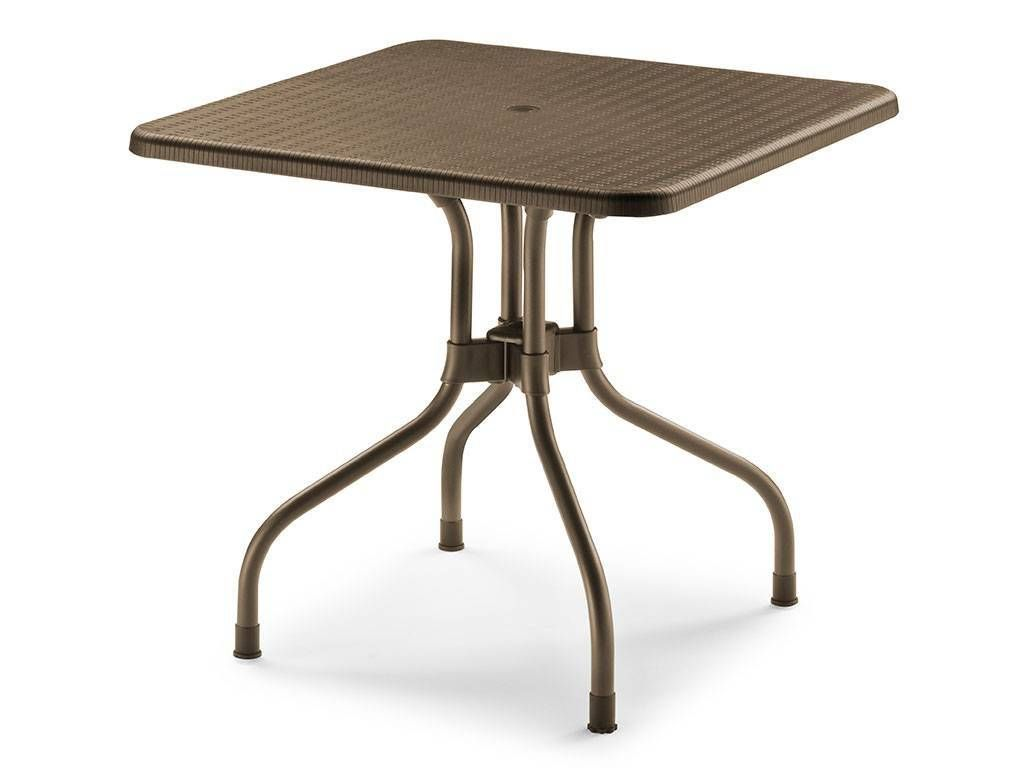olimpo outdoor square little table 80x80 in polypropylene