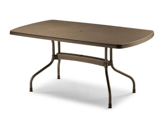 Olimpo table pour l'externe rectangulaire 160x90 en polypropylen